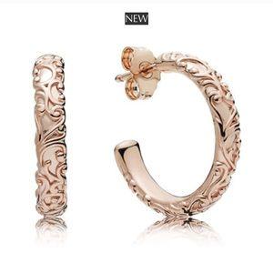 💖HP💖New Pandora Regal Beauty Hoop Rose Earrings
